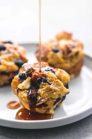 Blueberry Cream Cheese French Toast Muffins | lecremedelacrumb.com