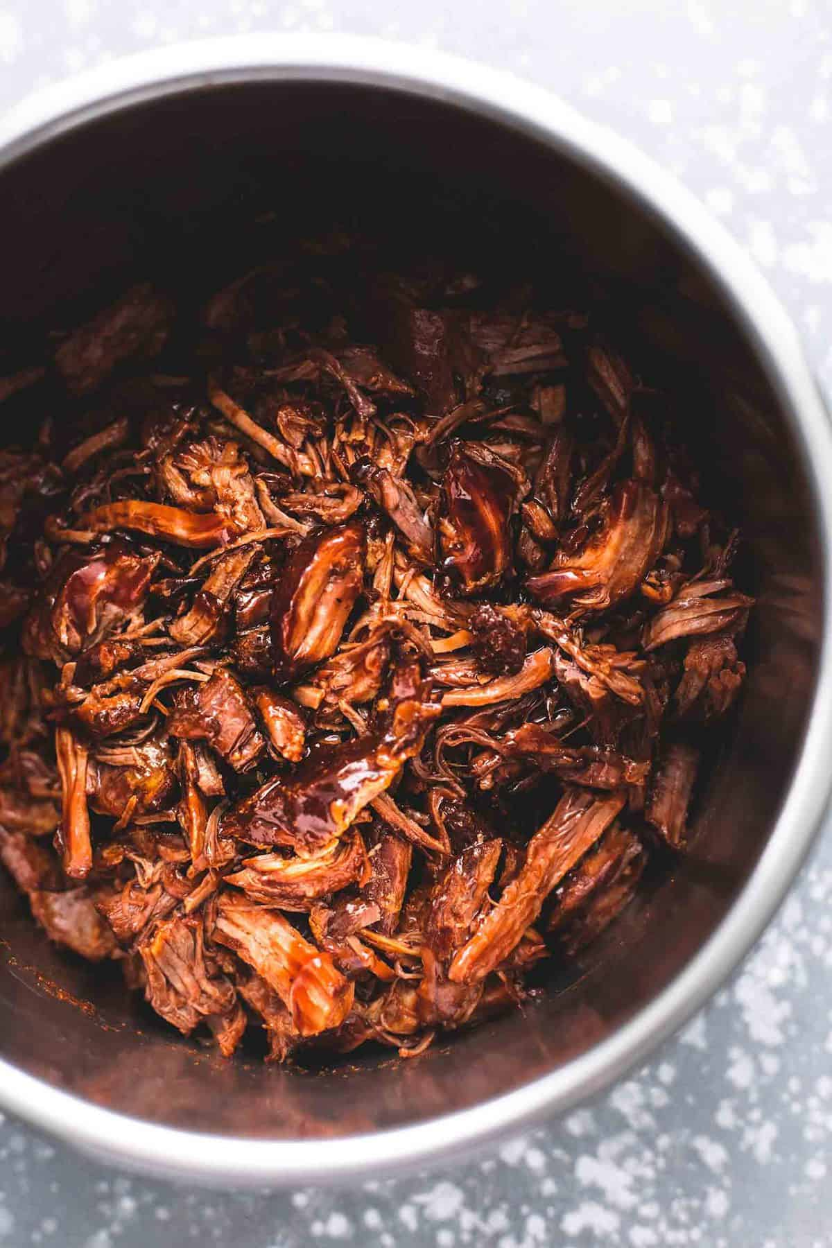 Instant Pot BBQ Pulled Pork easy main dish recipe | lecremedelacrumb.com
