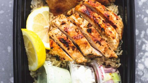 Meal Prep Greek Chicken Gyro Bowls | lecremedelacrumb.com