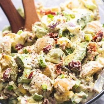 Bacon Avocado Potato Salad | lecremedelacrumb.com