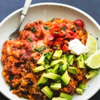 Instant Pot Cheesy Mexican Chicken and Rice | lecremedelacrumb.com