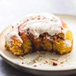 Pumpkin Cinnamon Rolls   lecremedelacrumb.com