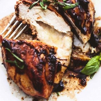 Three Cheese Stuffed Balsamic Chicken