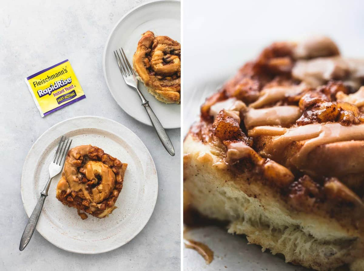 Easy Apple Pie Cinnamon Rolls recipe | lecremedelacrumb.com