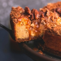 Caramel Pecan Pumpkin Cheesecake easy dessert recipe | lecremedelacrumb.com