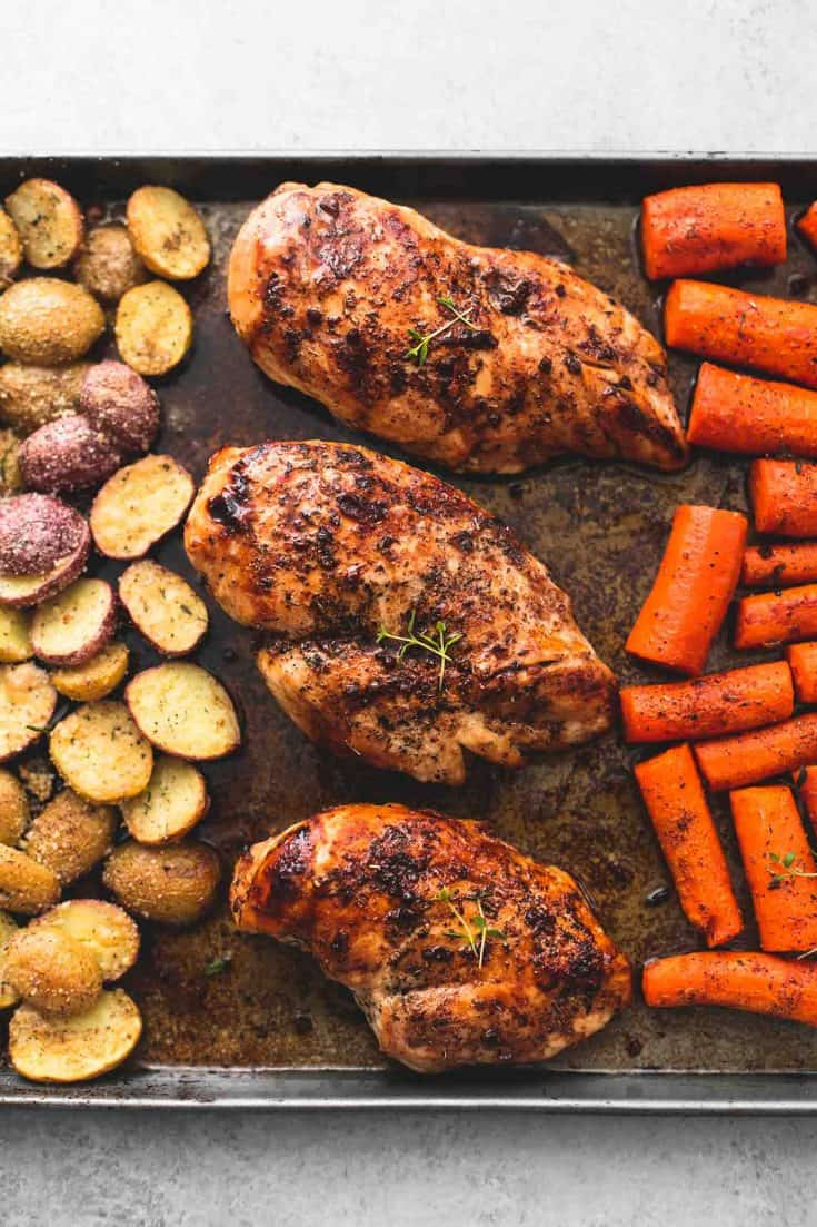 Sheet Pan Balsamic Chicken with Potatoes and Carrots