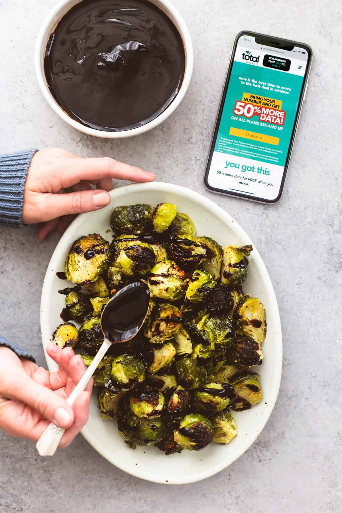 Easy Roasted Brussel Sprouts with Parmesan and Balsamic recipe | lecremedelacrumb.com