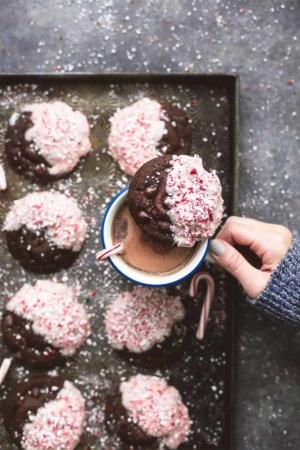Double Chocolate Peppermint Bark Cookies recipe   lecremedelacrumb.com