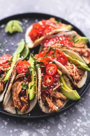 Instant Pot Shredded Chicken Tacos | lecremedelacrumb.com