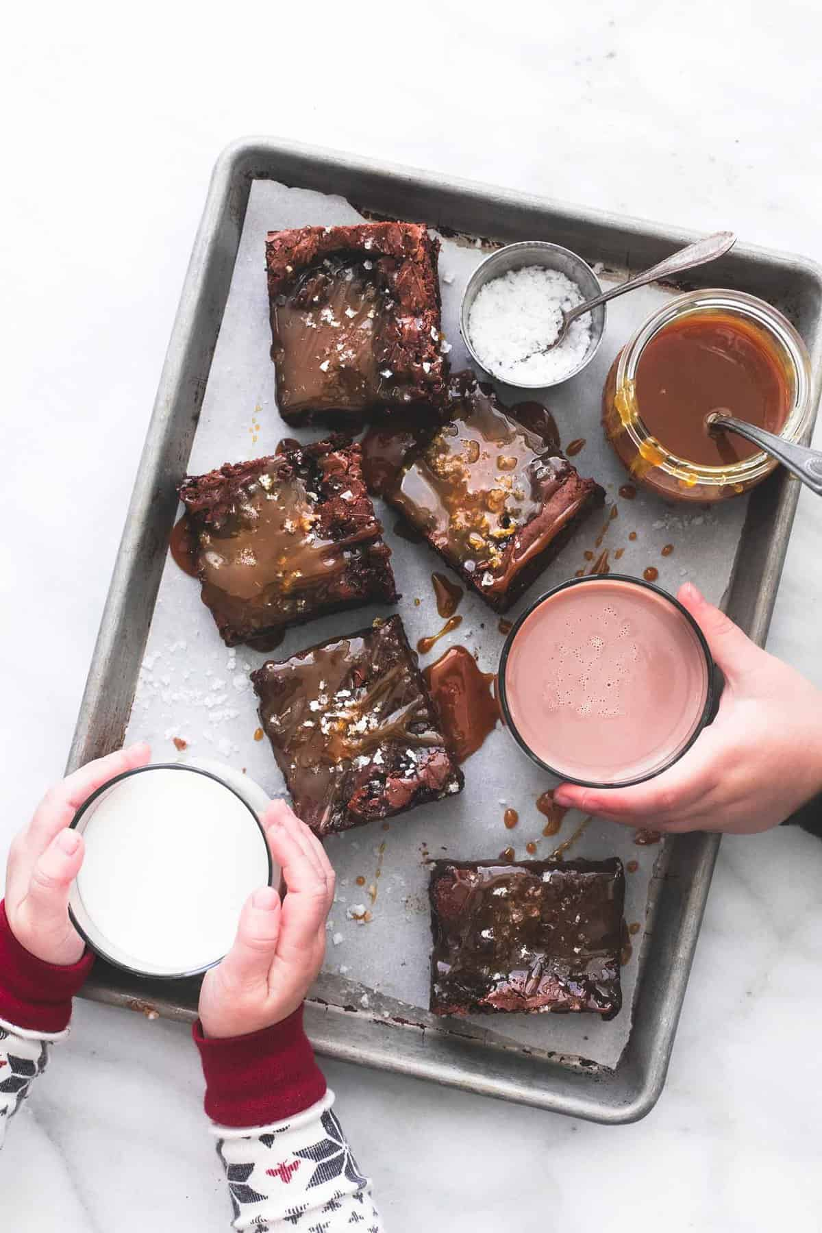 Salted Caramel Brownies recipe   lecremedelacrumb.com