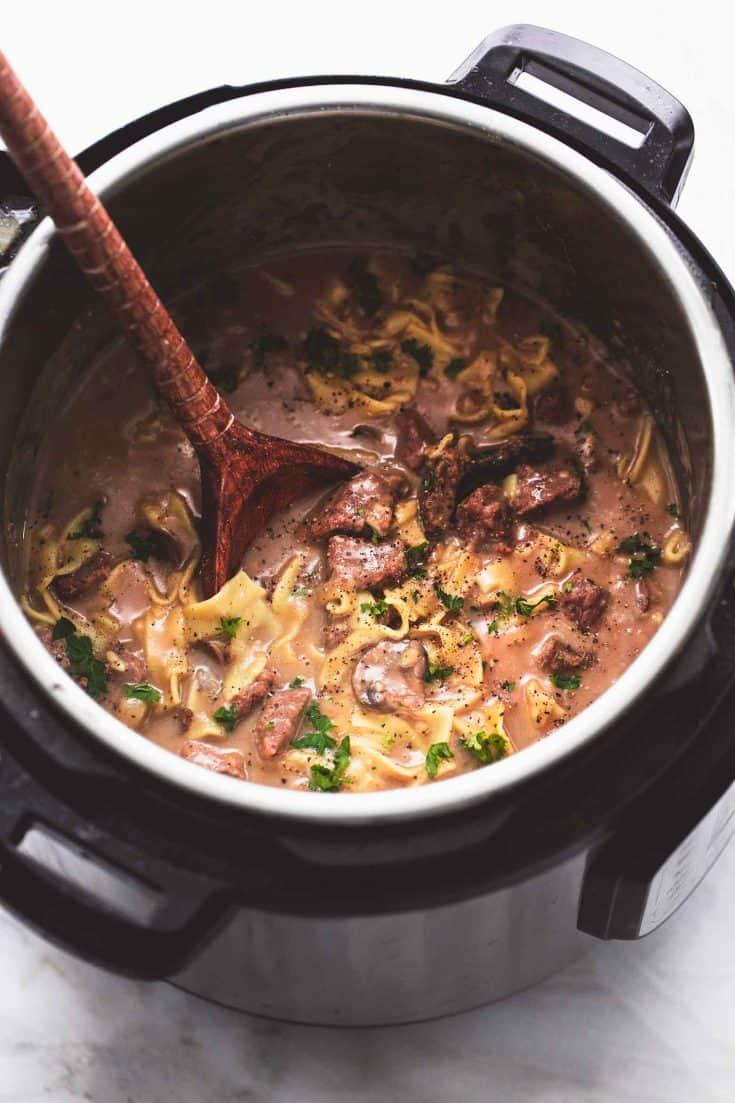 BEST Easy Instant Pot Beef Stroganoff