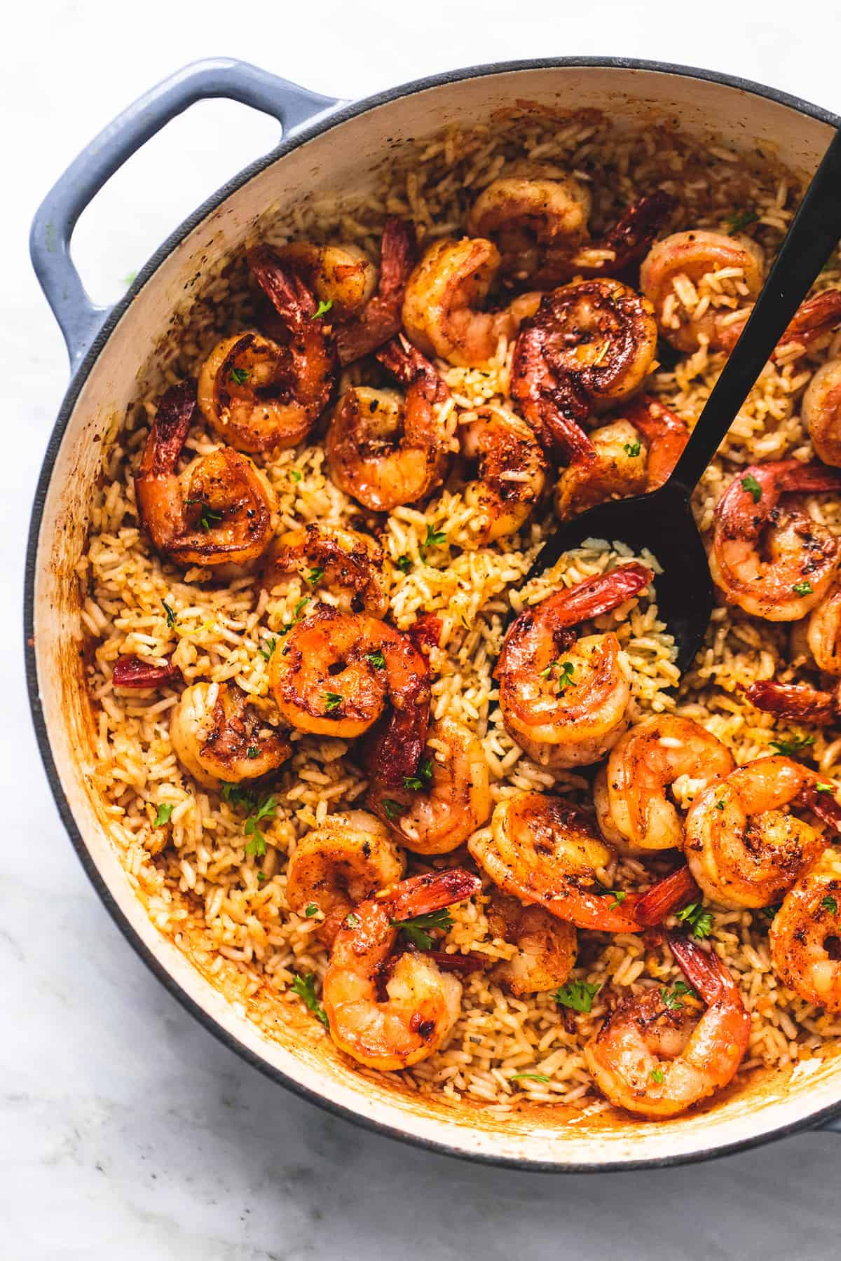 Cajun Shrimp and Rice Skillet | lecremedelacrumb.com