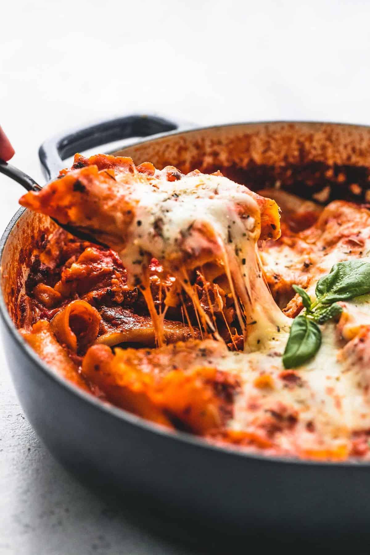 Skillet Lasagna | lecremedelacrumb.com