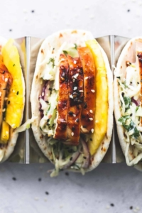 Easy 30 Minute Teriyaki Chicken Tacos dinner recipe | lecremedelacrumb.com