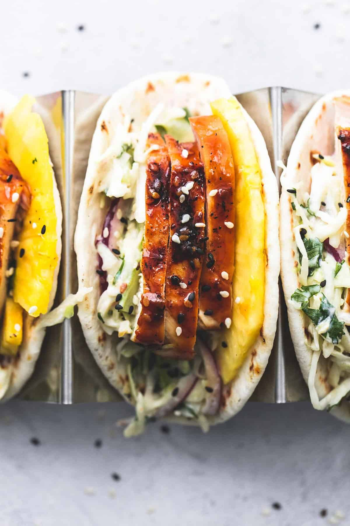 Easy 30 Minute Teriyaki Chicken Tacos dinner recipe | lecremedelacrumb.com