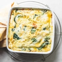 Easy White Chicken Lasagna with Spinach recipe | lecremedelacrumb.com