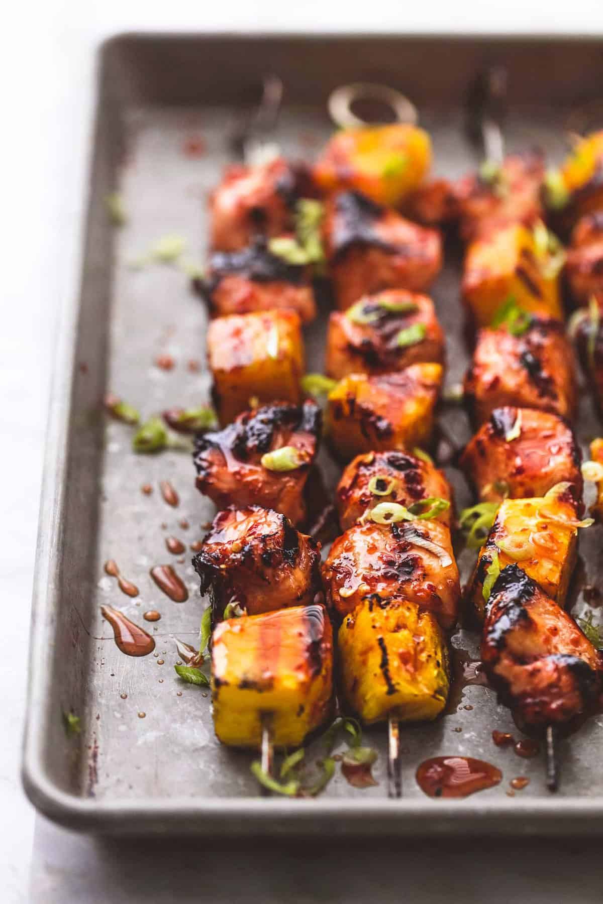 Grilled Sweet and Spicy Thai Chicken Kabobs easy grilling dinner recipe | lecremedelacrumb.com