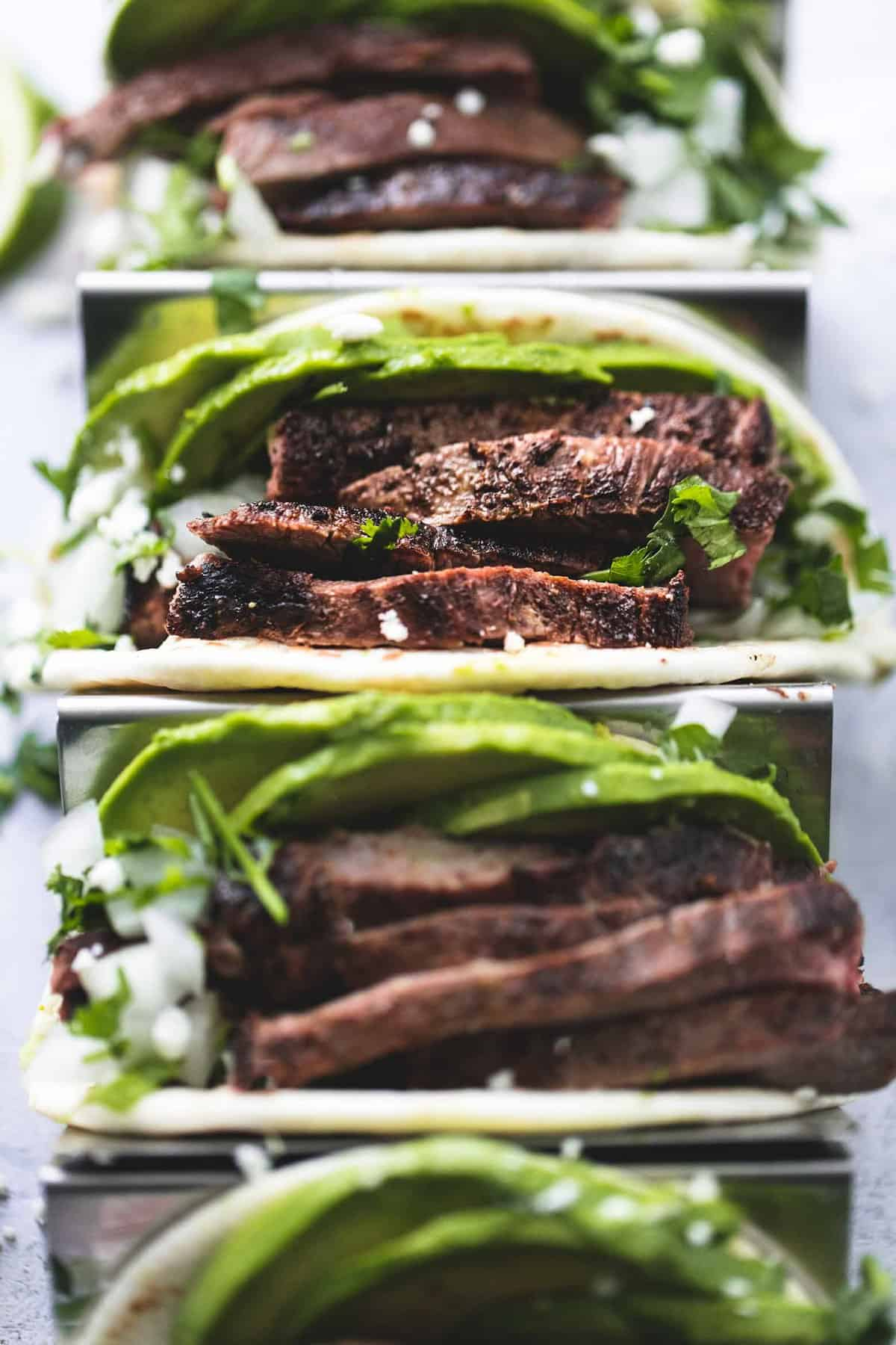 Best Flank Steak Tacos easy dinner recipe | lecremedelacrumb.com
