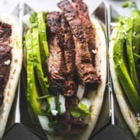 Best Flank Steak Tacos easy dinner recipe | lecremedelacrumb.com
