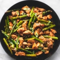 Easy healthy and tasty Chicken and Asparagus Stir Fry dinner recipe | lecremedelacrumb.com