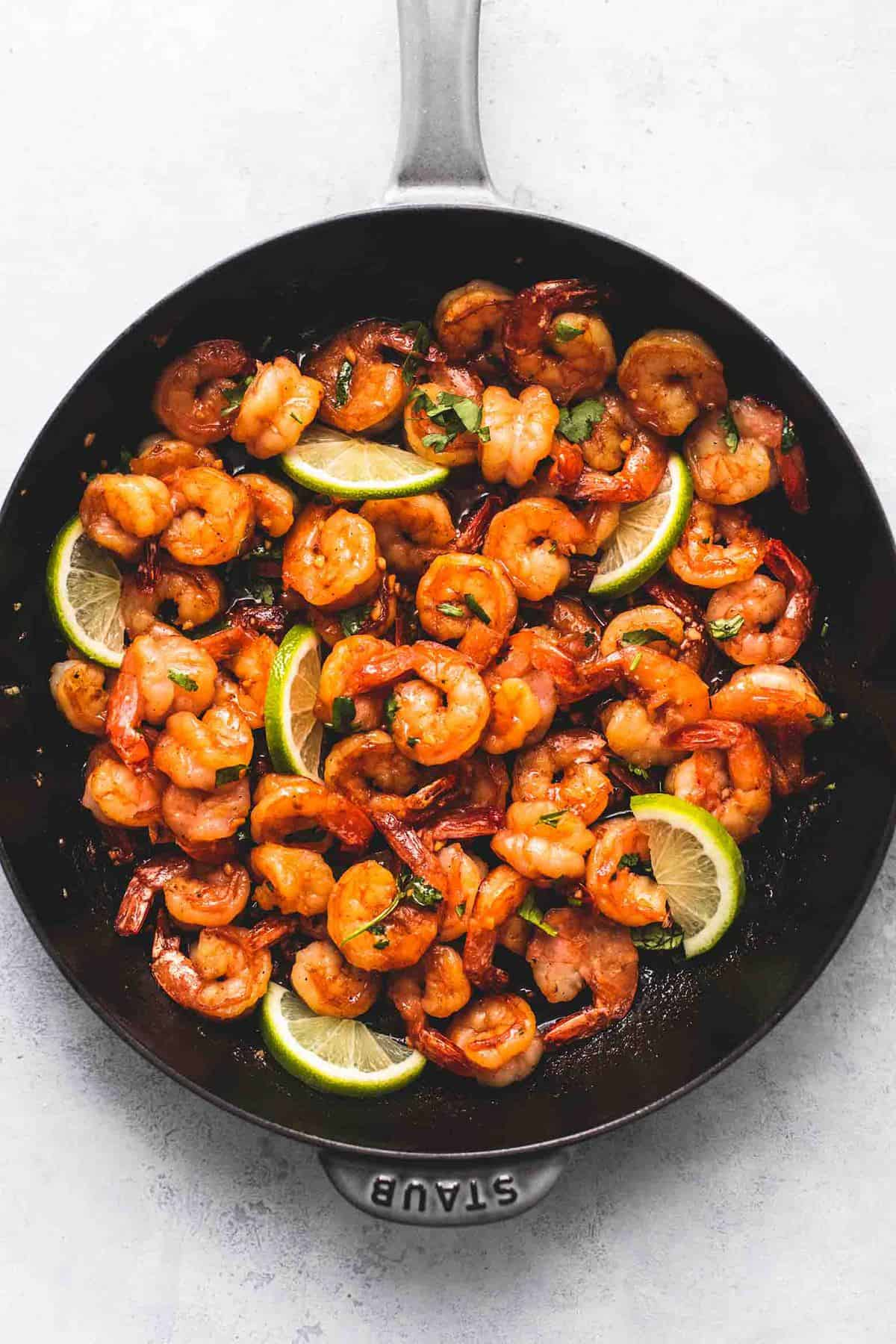 Honey Cilantro Lime Shrimp easy dinner recipe | lecremedelacrumb.com