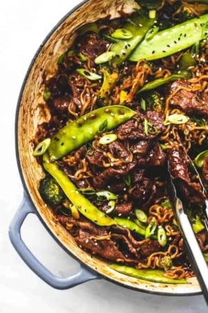Teriyaki Steak Stir Fry easy dinner recipe | lecremedelacrumb.com