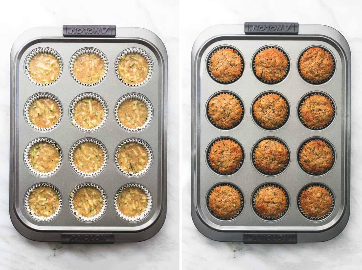 Zucchini Bread Muffins easy recipe | lecremedelacrumb.com
