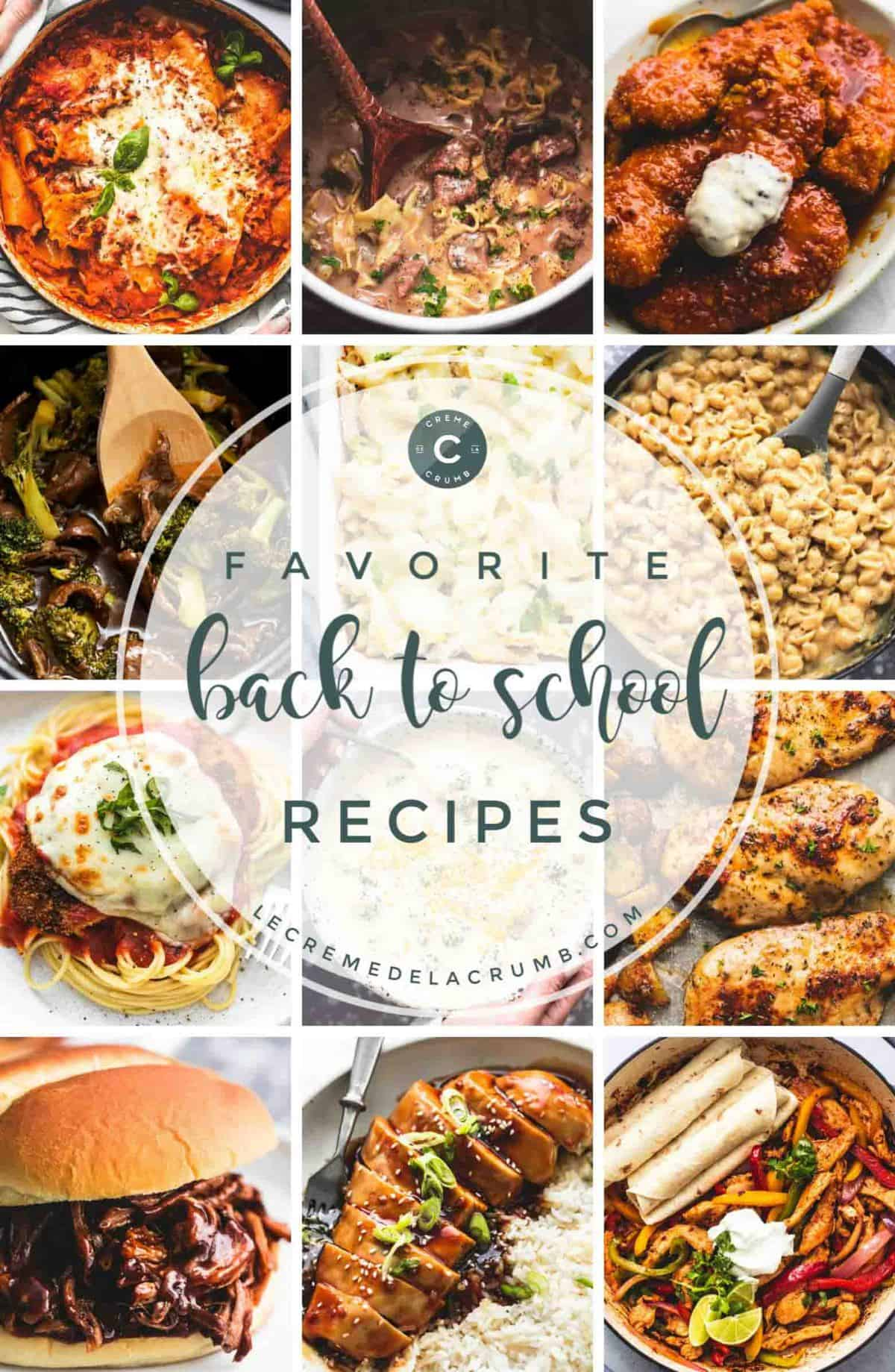 Easy and Family Friendly Back to School Recipes | lecremedelacrumb.com