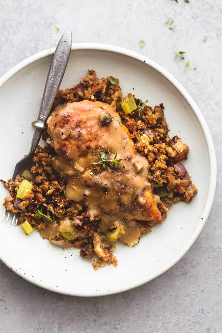Skillet Chicken and Stuffing