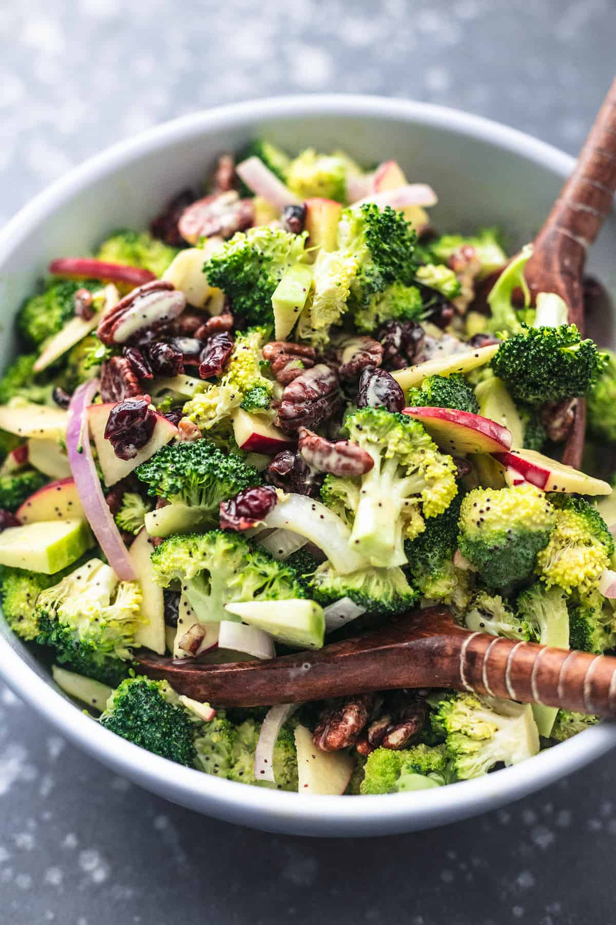 Broccoli Apple Salad With Poppyseed Dressing No Mayo Creme De