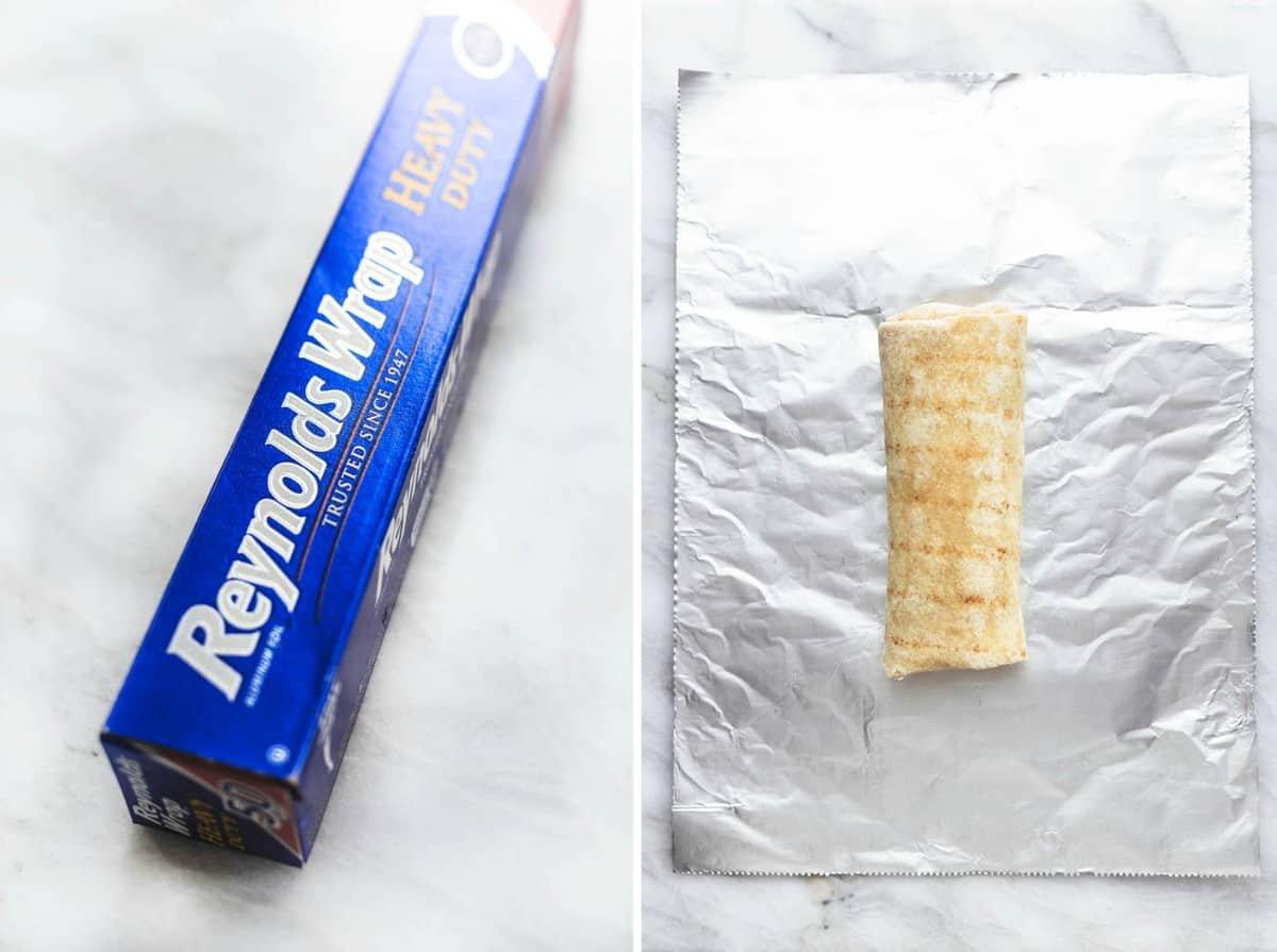 Easy make ahead egg and sausage Freezer Breakfast Burritos Recipe | lecremedelacrumb.com
