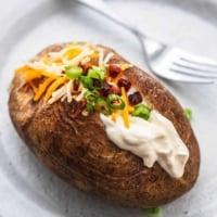Instant Pot Baked Potatoes Recipe | lecremedelacrumb.com
