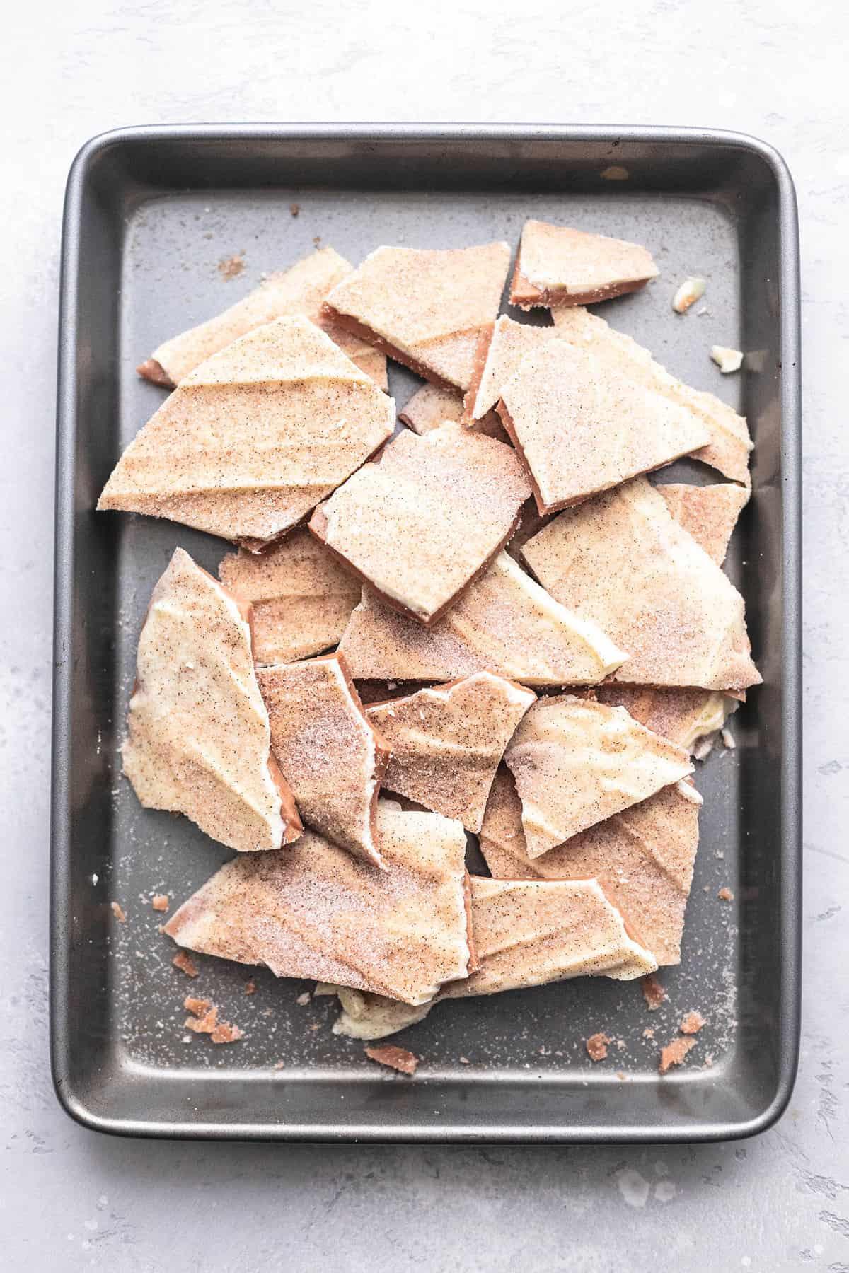 Churro Toffee (Disneyland Copycat) recipe | lecremedelacrumb.com
