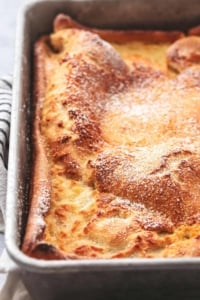 German Pancakes easy breakfast recipe | lecremedelacrumb.com