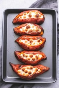 Instant Pot Baked Sweet Potatoes easy and tasty side dish recipe | lecremedelacrumb.com
