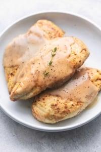 Instant Pot Chicken Breast and Gravy easy pressure cooker dinner recipe | lecremedelacrumb.com