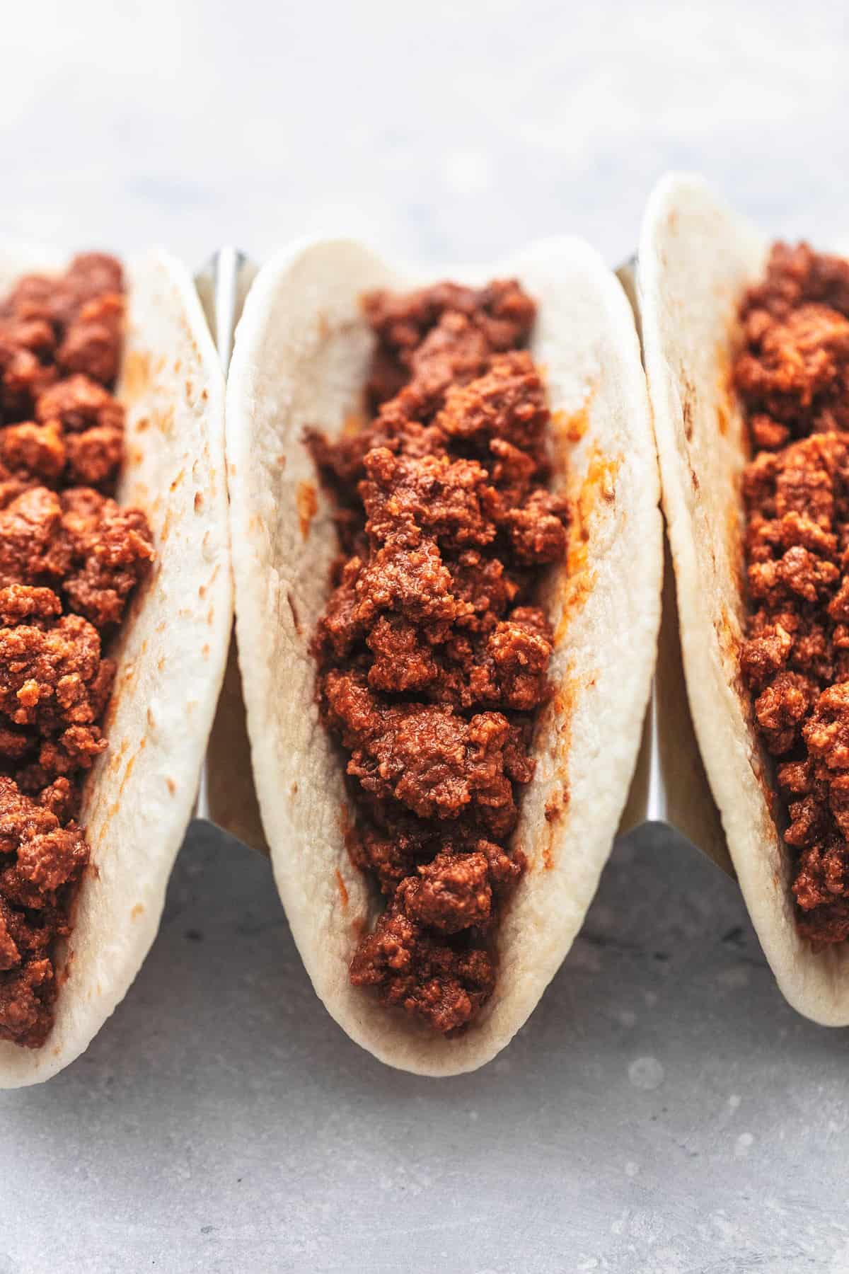 Best Ever Ground Beef Tacos easy ground beef dinner recipe | lecremedelacrumb.com