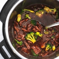 chinese broccoli and beef in pressure cooker