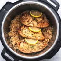 Easy and healthy Instant Pot Chicken Breast and Rice dinner recipe | lecremedelacrumb.com