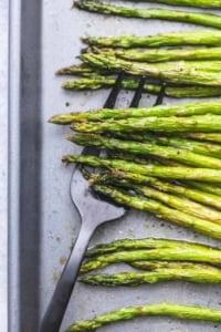 Easy healthy oven Roasted Asparagus recipe | lecremedelacrumb.com