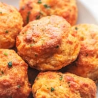 up close red lobster cheddar bay biscuits