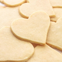 heart shaped sugar cookies unfrosted