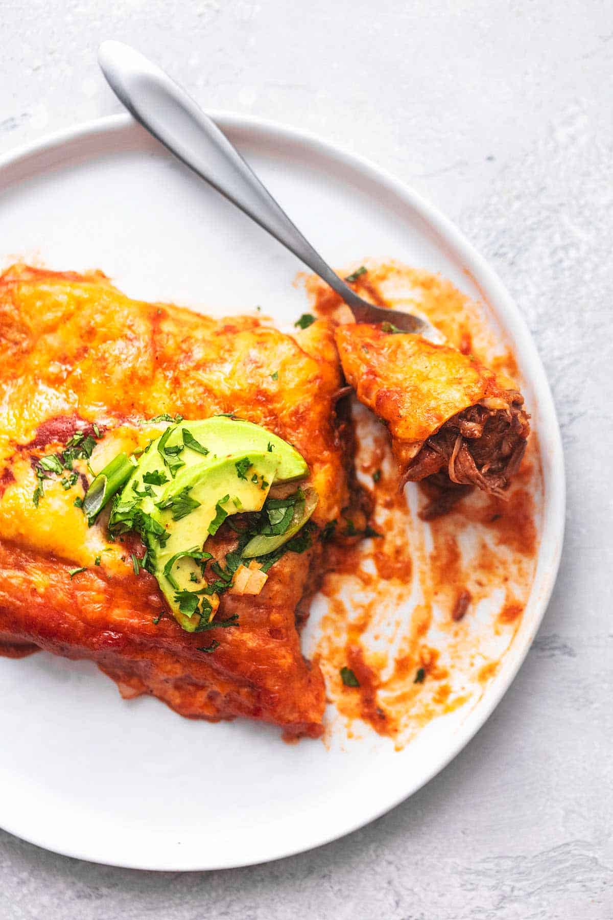 Instant Pot Beef Enchiladas easy dinner recipe | lecremedelacrumb.com