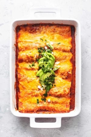 enchiladas in a pan