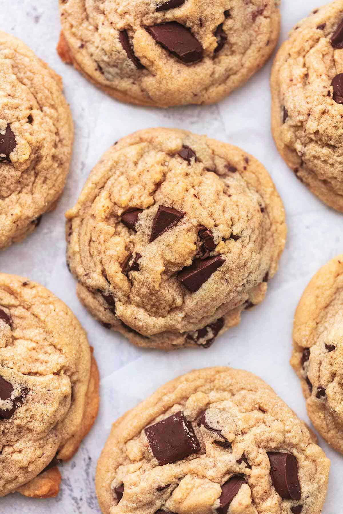 overhead peanut butter cookies