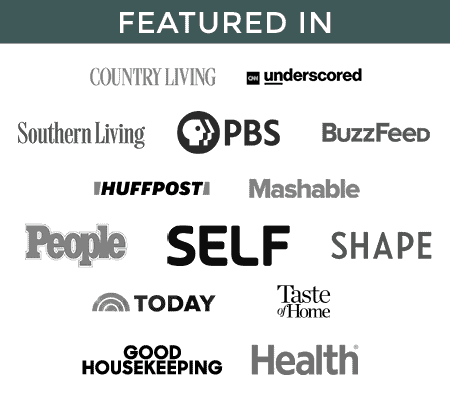 Featured In Sidebar Banner - Country Living, People, Self, Shape, Today, and more.