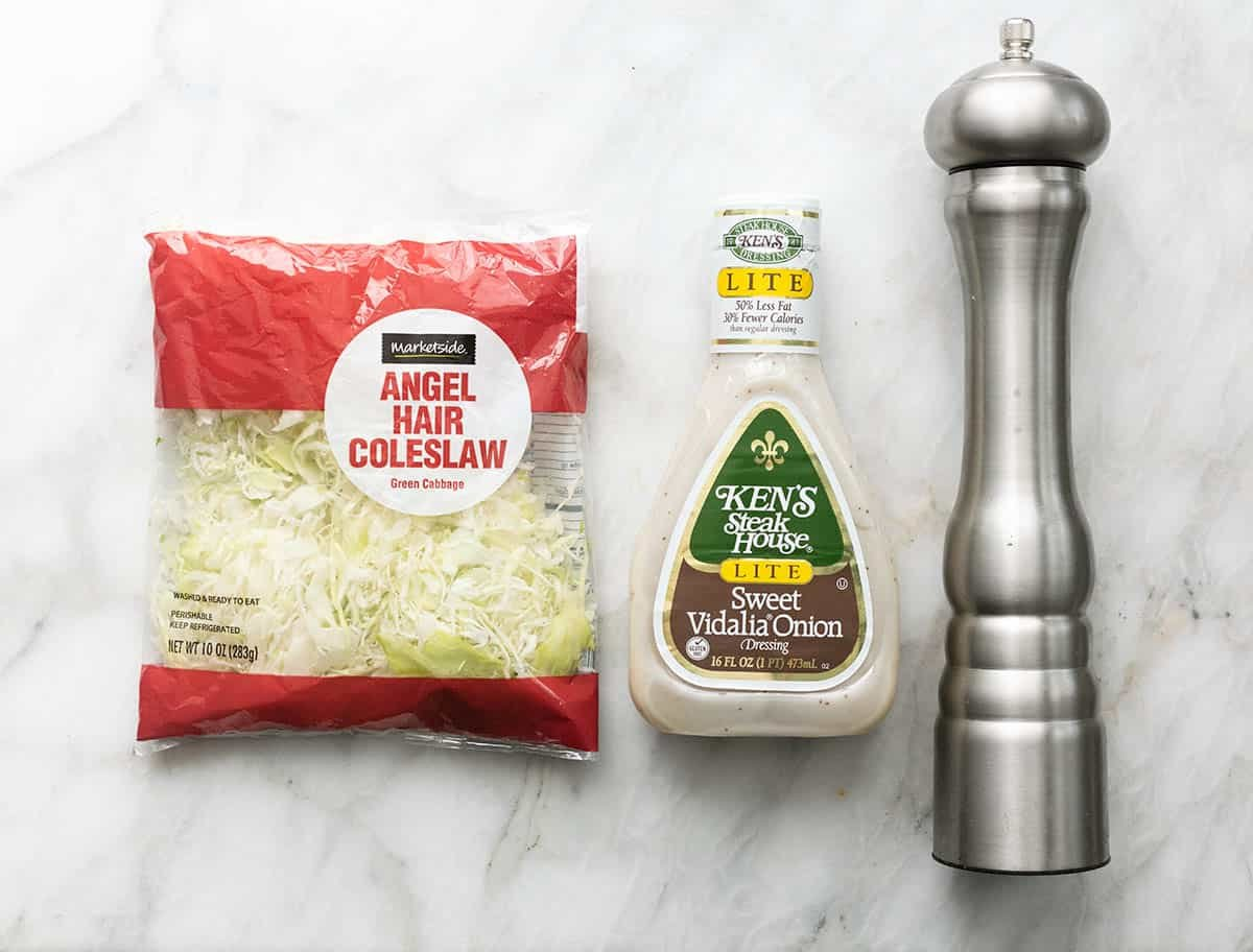 overhead ingredients for cole slaw