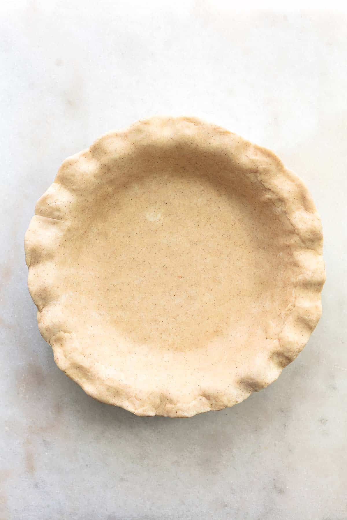 pie crust in dish unbaked