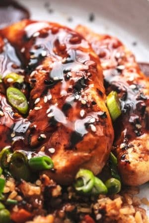 up close chicken grilled with glaze