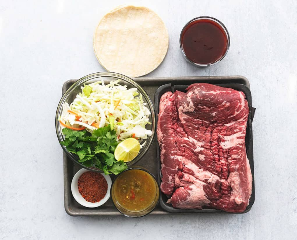 ingredients for beef tacos